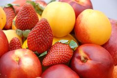 Fruits. A Mixed Fresh Healthy Fruits Royalty Free Stock Photo