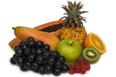 Fruits. Fresh fruits isolated on white Stock Image