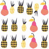 Fruits abstract nature seamless pattern in . It is located Stock Image