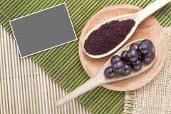 Fruits and acai powder Stock Image