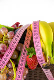 Fruits All Together and Measurement Stock Photos
