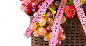Fruits All Together and Measurement Stock Photography