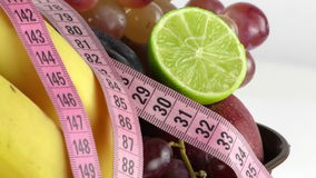 Fruits All Together and Measurement stock footage