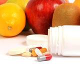 Fruits And Pills Royalty Free Stock Images
