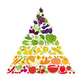 Fruits And Vegetables. Nutrition Rainbow. Icon Set Royalty Free Stock Image