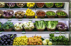 Free Fruits And Vegetables On A Supermarket Stock Photo - 42048420