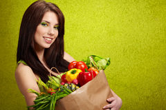 Fruits And Vegetables Shopping Stock Image