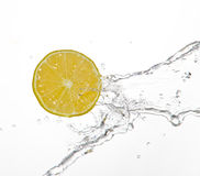 Fruits And Water Royalty Free Stock Photos