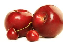 Fruits apple cherry Royalty Free Stock Photo