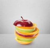 Fruits apple Lemon and orange Stock Photography