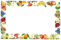 Fruits apple orange apples oranges frame copyspace copy space Stock Photo