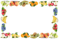 Fruits apple orange apples oranges fruit frame copyspace copy sp Royalty Free Stock Photos