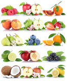 Fruits apple orange berries apples oranges banana fresh fruit st Royalty Free Stock Images