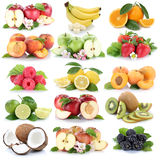Fruits apple orange berries apples oranges banana fresh strawber Stock Images