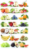 Fruits apple orange berries apples oranges banana grapes fresh f Stock Images