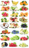 Fruits apple orange berries apples oranges banana grapes fresh s Stock Photo