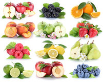 Fruits apple orange berries apples oranges strawberry fruit coll Royalty Free Stock Photos