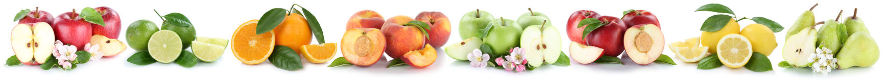 Fruits apple orange lemon nectarine apples oranges fresh fruit i Royalty Free Stock Photos