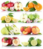 Fruits apple orange lemon nectarine apples oranges fruit collect Royalty Free Stock Photos