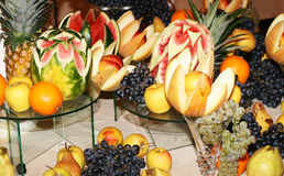 Fruits arrangement Royalty Free Stock Image