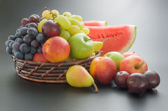 Fruits arrangement Royalty Free Stock Images