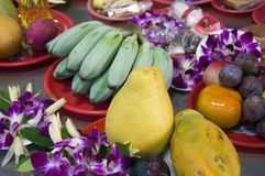 Fruits as offerings Royalty Free Stock Images