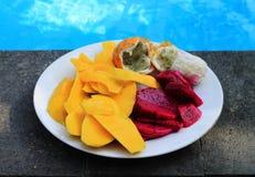 Fruits asiatiques sur l'île de Bali Image libre de droits