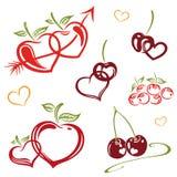 Fruits avec amour Photographie stock libre de droits