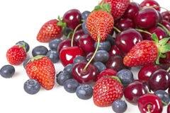 Fruits avec des cerises Image libre de droits