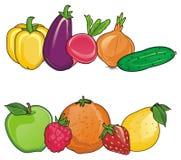 Fruits avec des légumes Photographie stock