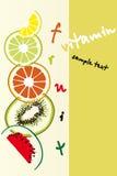 Fruits background vector illustration