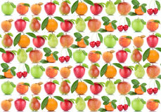 Fruits background apple orange fruit apples apricot oranges cher Royalty Free Stock Photos