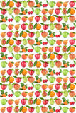 Fruits background apple orange fruit apples oranges cherry Stock Photography