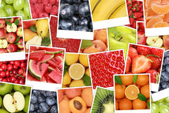 Fruits background with apples, oranges, lemons Royalty Free Stock Photography