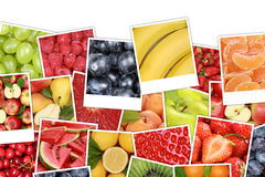 Fruits background with apples, oranges, lemons and copyspace Stock Photos