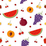 Fruits Background. Berries Seamless Pattern Royalty Free Stock Photos