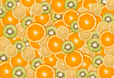 Fruits background. Bunch of fruit slices Royalty Free Stock Photos