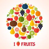 Fruits background. Colorful template for cooking, Stock Photo