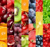 Fruits. Background of fresh ripe color  food Stock Photos