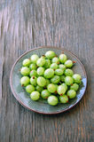 Fruits background with gooseberries Royalty Free Stock Images