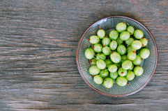 Fruits background with gooseberries Royalty Free Stock Photography