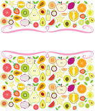 Fruits background illustration Royalty Free Stock Photos