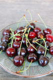 Fruits background with sweet cherries Stock Images