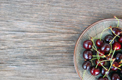 Fruits background with sweet cherries Stock Photo