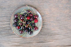 Fruits background with sweet cherries Stock Photography
