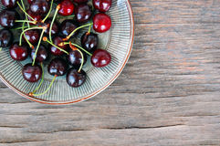 Fruits background with sweet cherries Royalty Free Stock Images