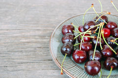Fruits background with sweet cherries Royalty Free Stock Photography