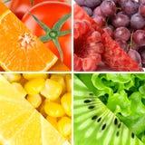 Fruits, baies et légumes frais de couleur Photo libre de droits