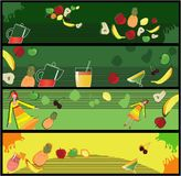 Fruits banners Stock Image