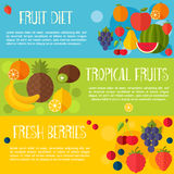 Fruits banners vector illustration. Royalty Free Stock Photo